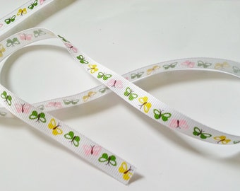 10mm butterfly grosgrain ribbon 1, 3 or 5 metre strips