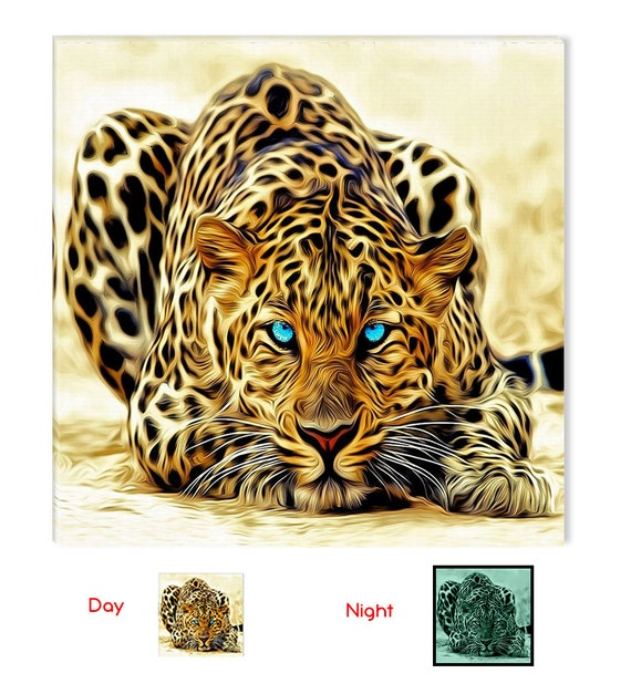 Leopard Fantastic Canvas Wall Art, 5 Stars Gift Startonight  Home and Kitchen Decor