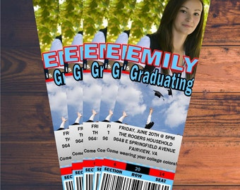 Custom Graduation Party Ticket Invitation