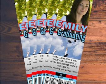 Custom Graduation Party Ticket Invitation