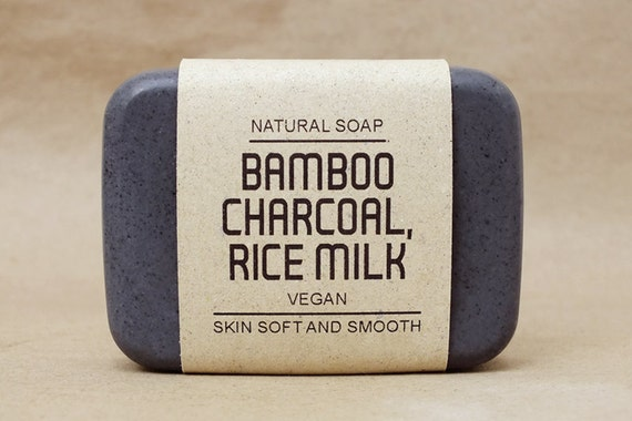 Vegan father's day gifts: Bamboo charcoal soap
