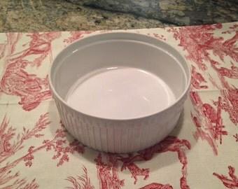 Pillivuyt French Porcelain Souffle Baking Dish France