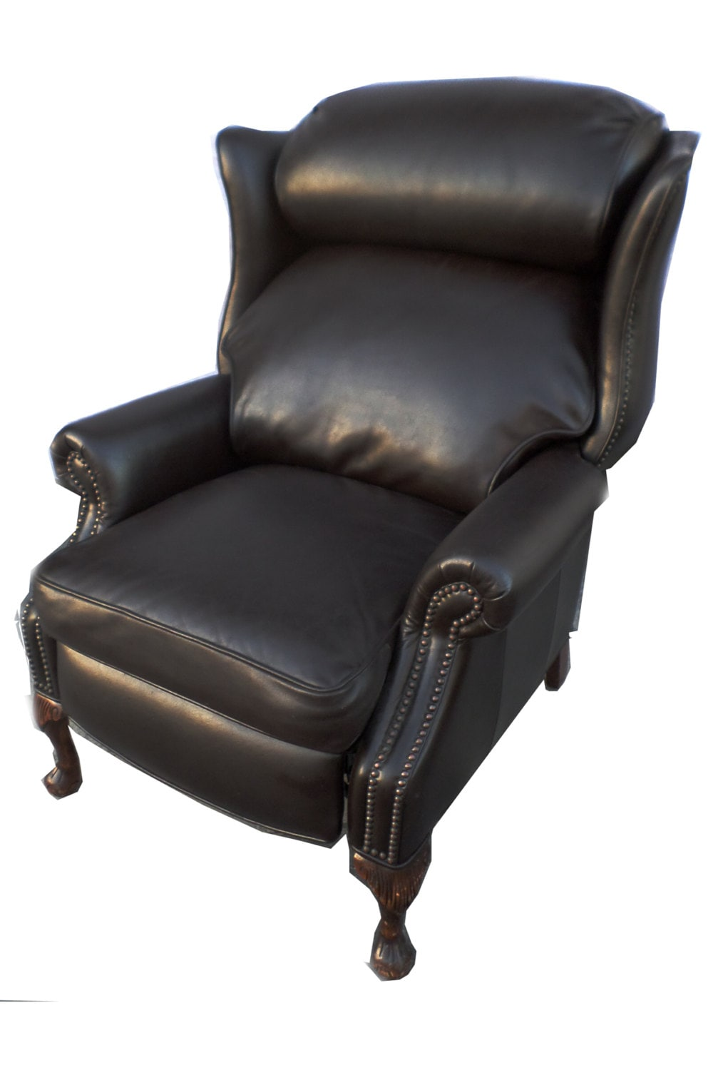 Chesterfield Leather Wing Back Recliner Hollywood Regency Lounge Chair**ON SALE** u2013 Haute Juice