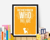 The Lion King Movie Quote Remember Who You Are / Instant Download / Nursery Printable / 8 x 10 Digital Download