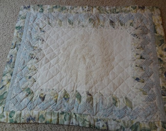 Vintage Quilted Pillow Sham Bedroom Bedding Vintage Home Decor Crochet Pillow Sham