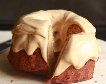 6 Miniature Blondie Caramel Bundt Cakes - Homemade baked goods