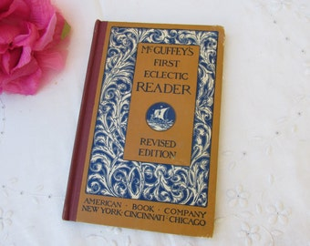 Book - McGuffey's First Eclectic Reader - Revised Edition - Vintage