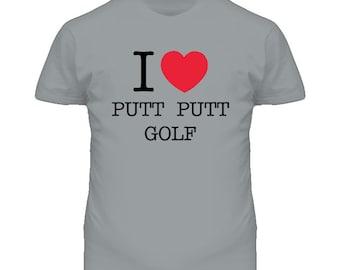 I Heart Love Mini Putt Putt Golf Funny T Shirt