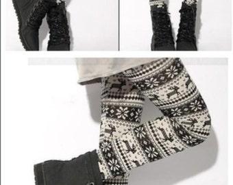 Leggings printed snowflakes snowflakes winter