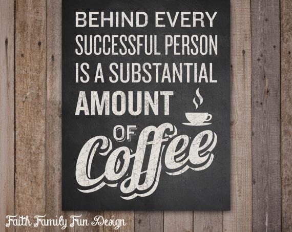 Kaffee Zeichen. Kaffee Dekor. Lustige von FaithFamilyFunDesign