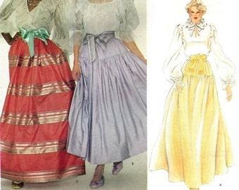 Vogue 2806 Wild Gypsy Dance Skirt  1980's / SZ8 UNCUT