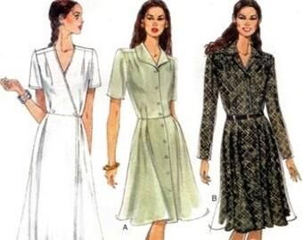 Vogue 9427 Pretty Waist Tucked Dress 1996 / SZ6-10 UNCUT