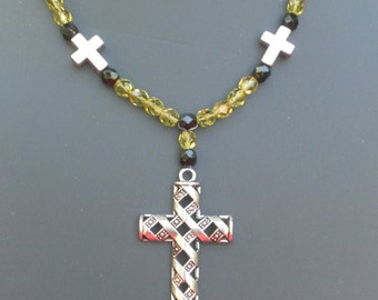 Gothic necklace with large cross