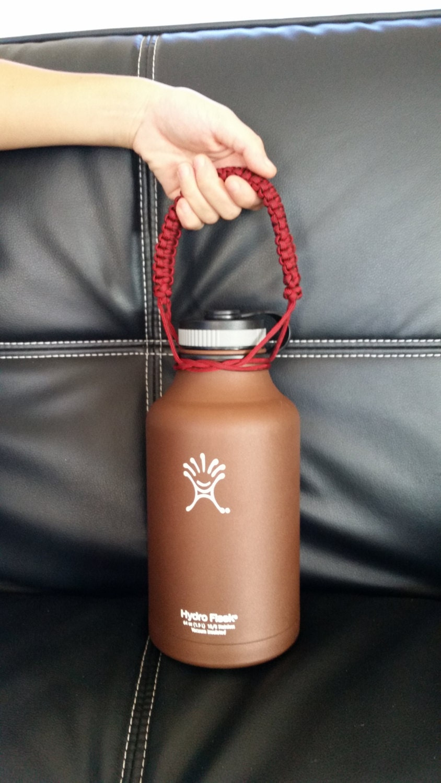 Handmade hydro flask handle holder widemouth by thosedangknots