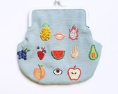 Hand embroidered ' Healthy Fruits ' Purse by İrem Yazıcı