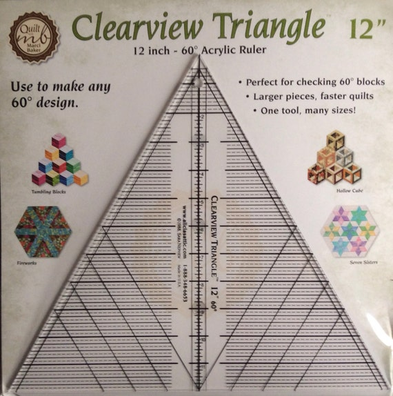 Quilt Template Triangle Ruler 12 60 Degree Quilt Ruler