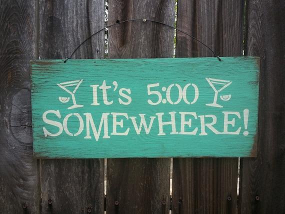 beach decor, beach house decor, beach sign, It's 5:00 Somewhere, Alan Jackson, Beach Theme, Bar Decor, Beach House, Beach Sign