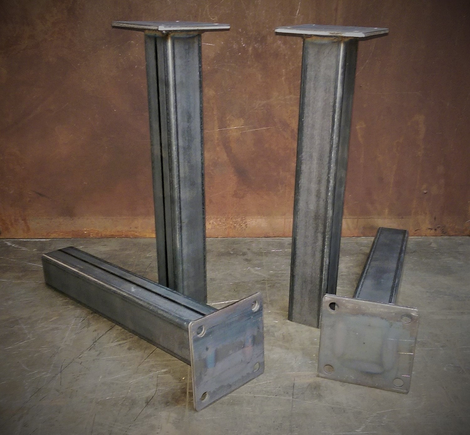 Metal tube table legs set of 4 1228height for What to use for table legs