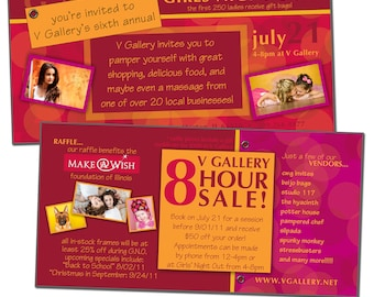 4x8 & 5.5x11 Marketing Card Template - GIRLS' NIGHT OUT Event - Digital File