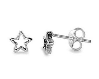 Starfish Stud Earrings 925 Sterling Silver 5MM