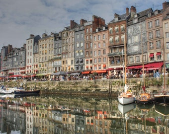 Harbour at Honfleur, France - photographic print