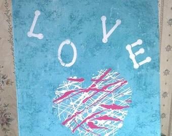 "11"" x 14"" LOVE Painting"