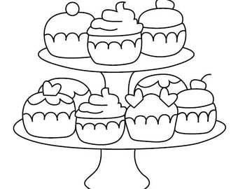 Worksheet. Cake coloring page  Etsy