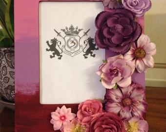 Custom Color Faded Floral Frame