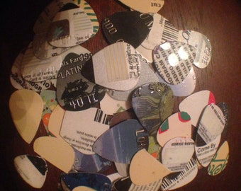 Recycled Plastic Guitar Picks