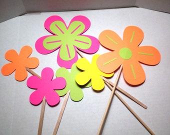 12 Die Cut Spring Flowers-Decorations,Die Cuts, Flowers, Scrapbooking-DCLPD-7