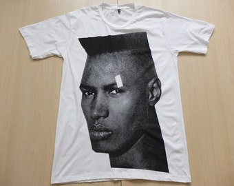 Grace Jones Fashion Model Pop New Wave Fashion Icon T-Shirt S