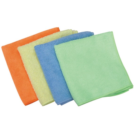 Microfiber Cleaning Cloth 4 Pack 12 In X 12 In No Lint By