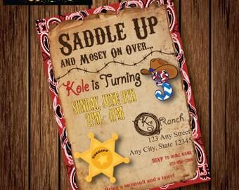 Printable WESTERN INVITATION - Western Birthday Party Invitation - Western Invite - Western / Cowboy Themed Invitation - Child's Birthday