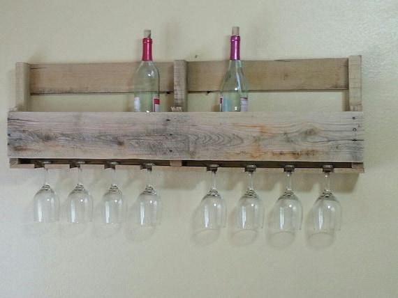 palette wine rack avec porte verre vin. Black Bedroom Furniture Sets. Home Design Ideas