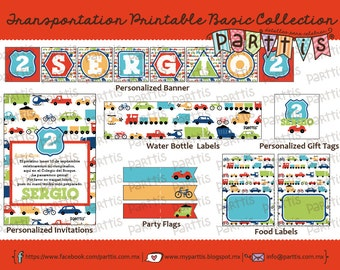 Transportation Party Printable Collection BASIC