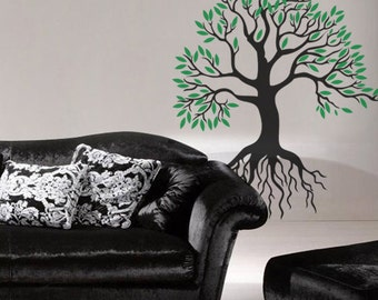 CREATIVE DESIGN: TREE Wall Decal Art Home Deco Vynil Living Room Bedroom Office Front desk decor Bar
