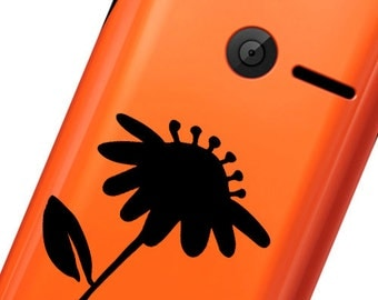 Flower Phone decal sticker High quality Vinyl iphone sticker or any mobile phone, available sizes