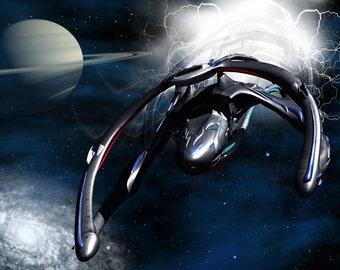 Andromeda Digital Art  Glossy Print  'Slipstream Exit'