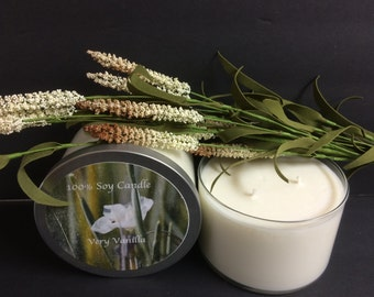 Very Vanilla 3 Wick Soy Candle