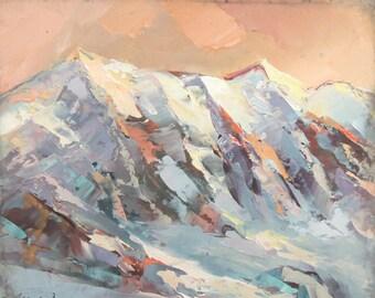 Mountain landscape oil paintingt signed