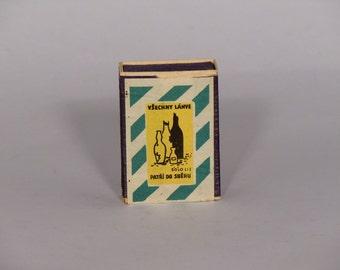 Czechoslovakia Solo Lipnik Matchbox with Matches