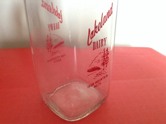 Vintage Milk Bottle on Etsy