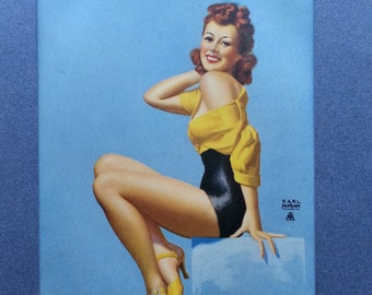 Earl Moran Pin-Up Girl Picture