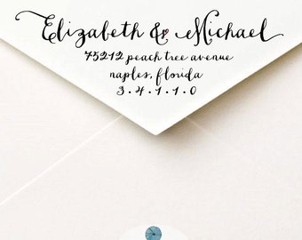 Calligraphy Return Address Label, Custom Printable & DIY Envelope Mailing Labels