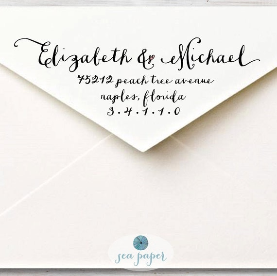 calligraphy return address label custom printable diy