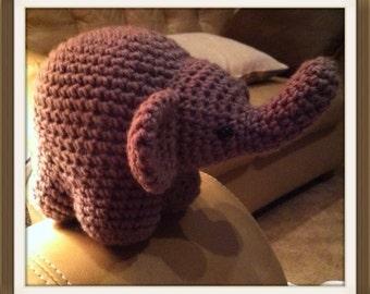 Handmade Amigurumi Crocheted Elephant
