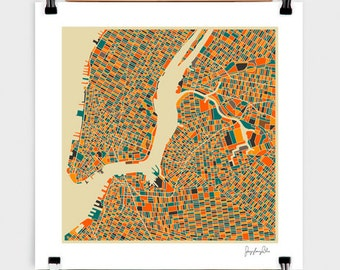 New York - Numbered Art Print by Jazzberry Blue from Curioos