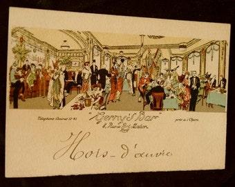 Antique French Postcard Paris: Gerny's Bar