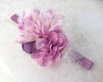 Girls Pretty Purple Heart headband