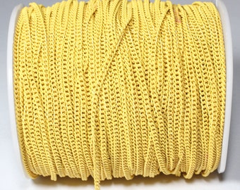 5 Meters Yellow Curb Chains (0,5mm) & Colored Chain, Unsoldered